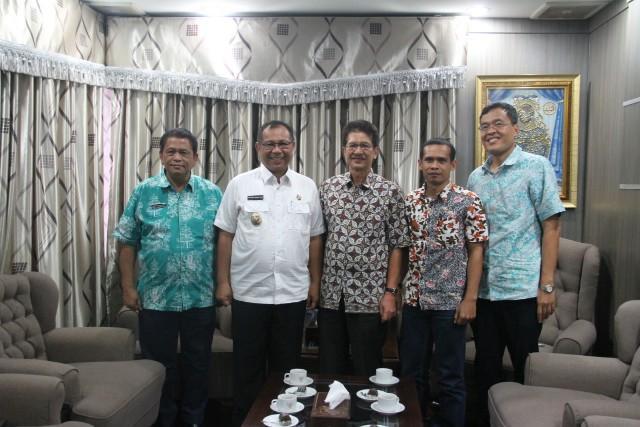 Terima Kunjungan PTMSI, Pemko Medan Dukung Penuh Atlet Tenis Meja Kota Medan