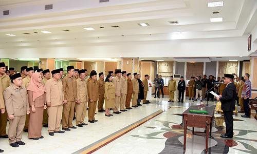 Gubernur Sumut Edy Rahmayadi Lantik 2 Pejabat Eselon II dan 85 Pejabat Eselon III
