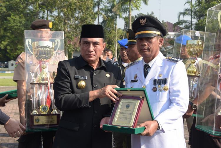 Bangun Purba Raih Kecamatan Terbaik Tingkat Provinsi Sumut