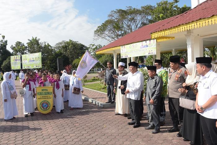 7500 Siswa dan Guru MDTA Deli Serdang Ikuti Manasik Akbar ke-8