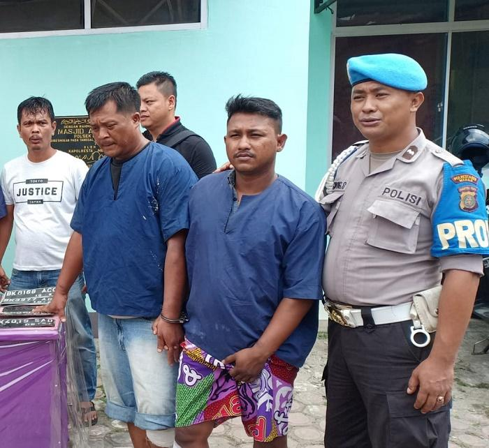 Dua TO Pelaku Curanmor Ditembak Polsek Delitua di Jalan Bunga Asoka Medan