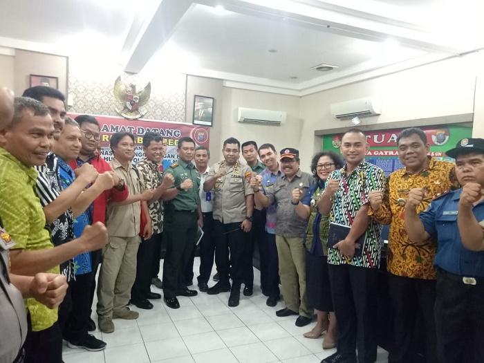 Kapolrestabes Medan Rapat Koordinasi Penanggulangan Banjir Bersama Jajaran Pemko Medan