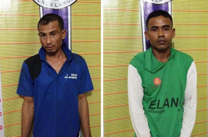 Miliki Sabu, Dua Pria Asal Tanjung Pura Dibekuk Polres Langkat