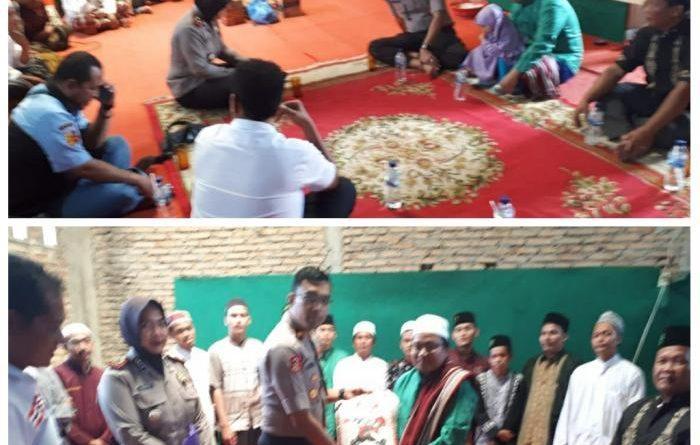 Kapolsek Patumbak Silaturahmi ke Ponpes Salafiah Mifahusur di Jalan Garu IIB Amplas