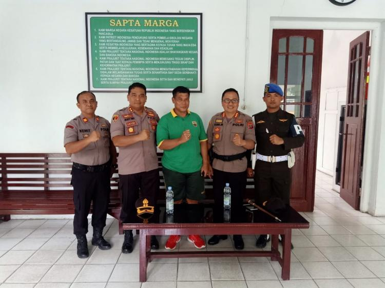 Jaga Sinergitas TNI-Polri, Kapolresta Deli Serdang Silaturahmi kepada Dan Subdenpom Lubuk Pakam