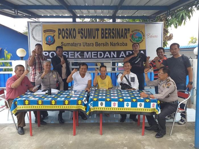 Di Jermal 15, Polsek Medan Area Dirikan Pos Sumut Bersih Narkoba