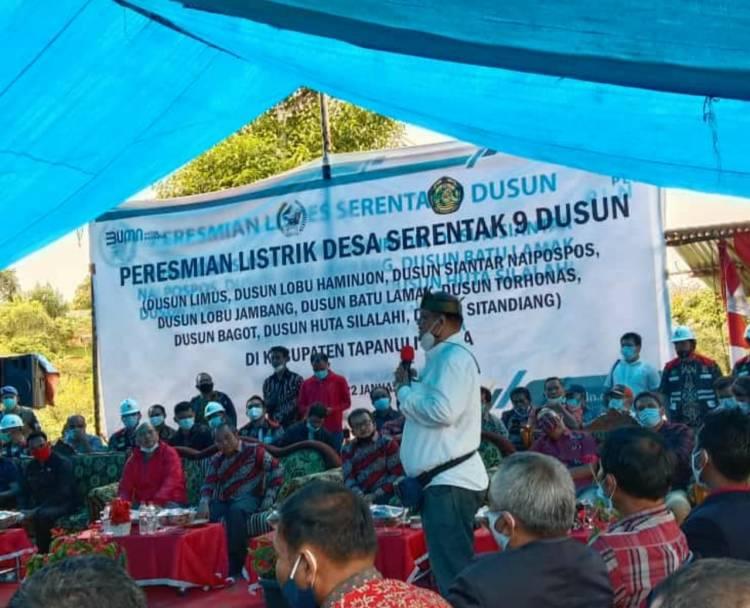 Ketua MKI Sumut Hadiri Peresmian Listrik Desa di Tapanuli Utara