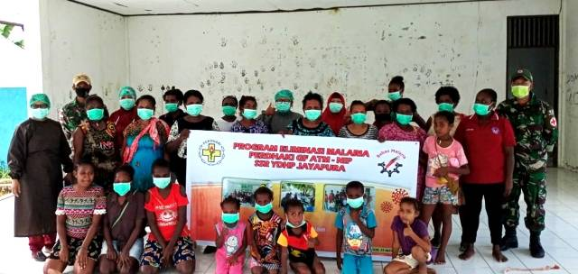 Satgas Yonif MR 413 dan Puskesmas Skouw Gelar Program BELKAGA, Wujudkan Papua Bebas Kaki Gajah