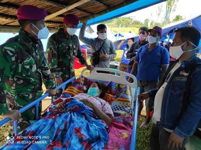 Batalyon Kesehatan TNI Bantu Pengobatan Korban Gempa Mamuju di Sulbar