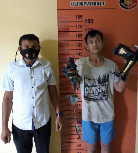 Polsek Pancur Batu Tangkap Buronan Pencuri Bongkar Rumah di Tanjung Anom