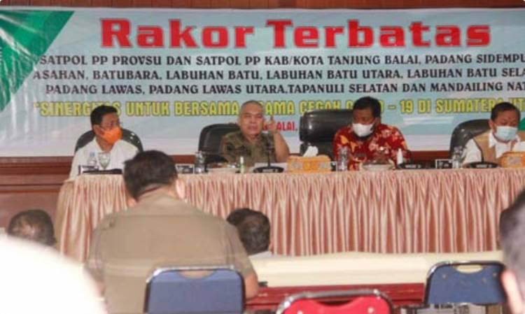 Pemprov Sumut Gelar Rakor Satpol-PP Zona Dua, Tingkatkan Pencegahan dan Pengendalian Covid-19