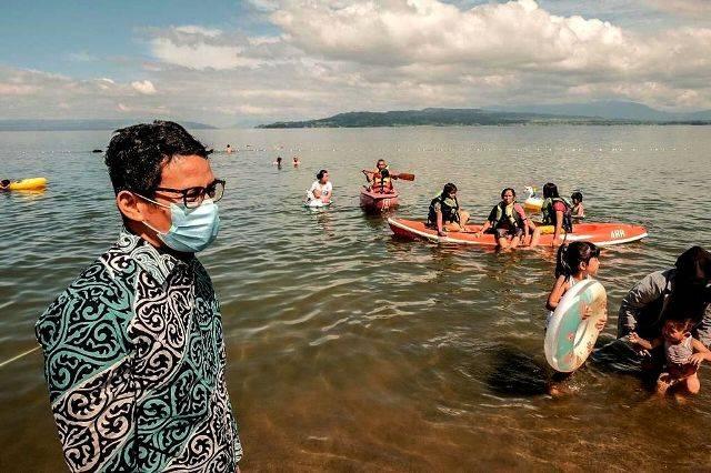 Sandiaga Uno Kunjungi Danau Toba, Dorong Potensi Wisata dengan Sport Tourism