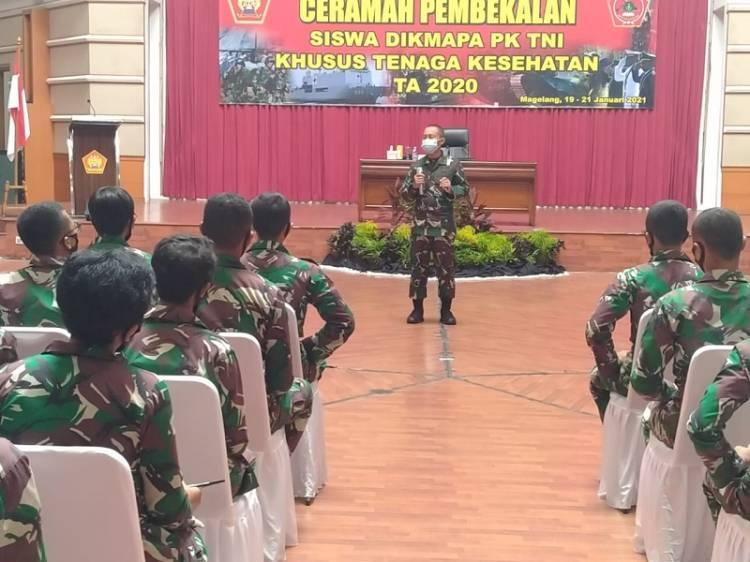 Pembekalan 164 Siswa Dikma Pa PK TNI Khusus Tenaga Kesehatan Digelar di Akmil Magelang Jateng