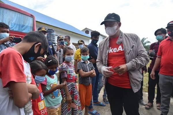 Peduli Kemanusian, Bupati Batu Bara Kunjungi Posko Imigran