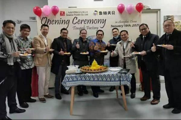 Pertama, Pabrik Tempe Indonesia Diresmikan di Shanghai