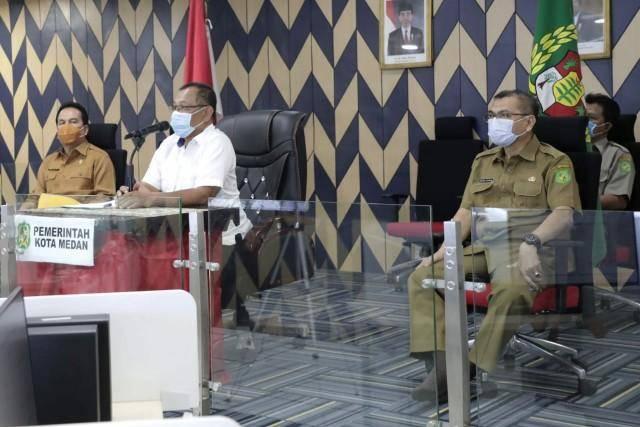 Plt Walikota Medan Siap Laksanakan Arahan Gubsu Dalam Upaya Pencegahan dan Pengendalian Kasus Covid-19
