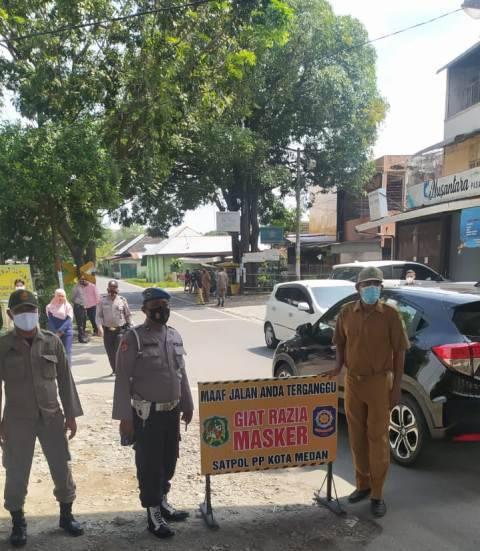 Polsek Medan Timur Gelar Operasi Yustisi, Ajak Warga Disiplin Terapkan Protokol Kesehatan