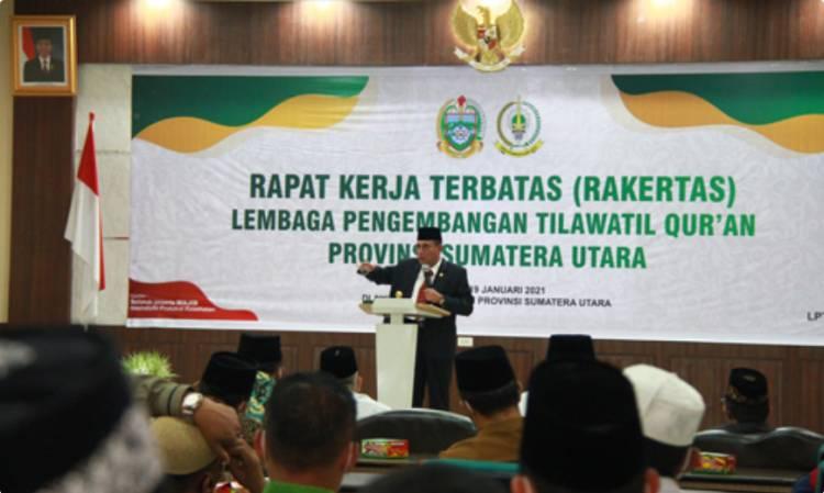Rakertas LPTQ Sumut, Gubernur Edy Rahmayadi Minta Perkuat Kerjasama dengan Pemkab/Pemko