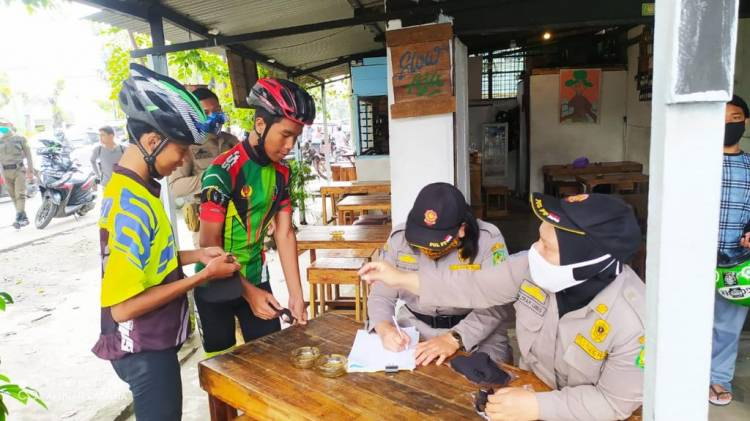 Operasi Yustisi Digelar Polsek Medan Timur, 21 Orang Dapat Sanksi Sosial