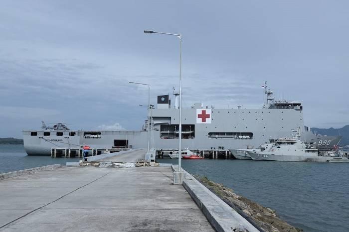 Rumah Sakit Apung TNI Tangani Pasien Korban Gempa Majene dan Mamuju di Sulawesi Barat
