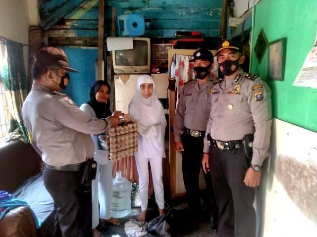 Polsek Medan Timur Kembali Gulirkan Bantuan Sembako untuk Warga Kurang Mampu