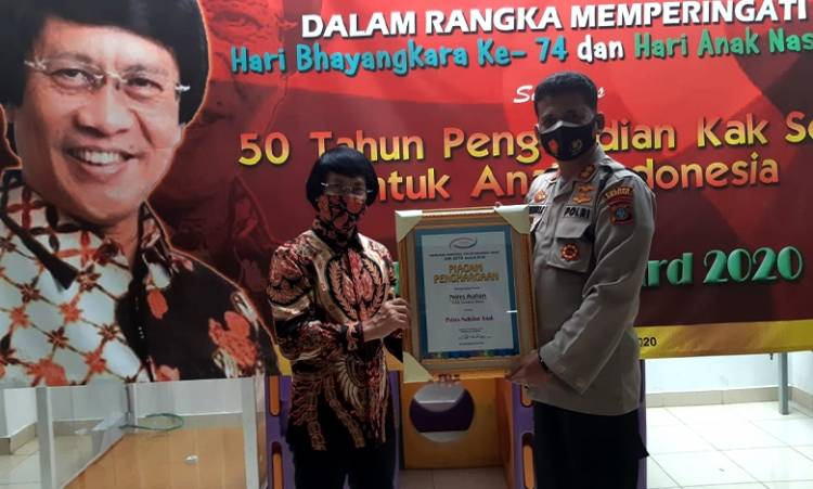 Kapolres Asahan AKBP Nugroho Dwi Karyanto Terima Penghargaan Kak Seto Award dan Polis Award 2020
