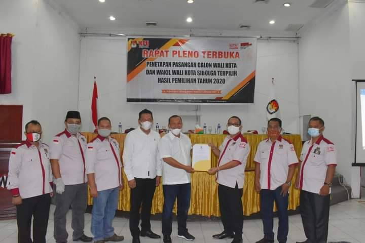 KPUD Sibolga Gelar Rapat Pleno Penetapan Walikota dan Wakil Walikota Terpilih