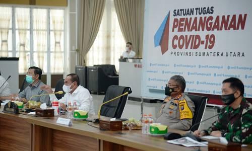 Satu Tahun Hadapi Covid-19, Gubernur Sumut Minta Semua Pihak Tidak Bosan dan Tetap Disiplin Lawan Covid-19