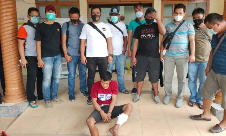 Polres Asahan Tembak Pelaku Curanmor di Jalan SM Raja Kisaran Barat