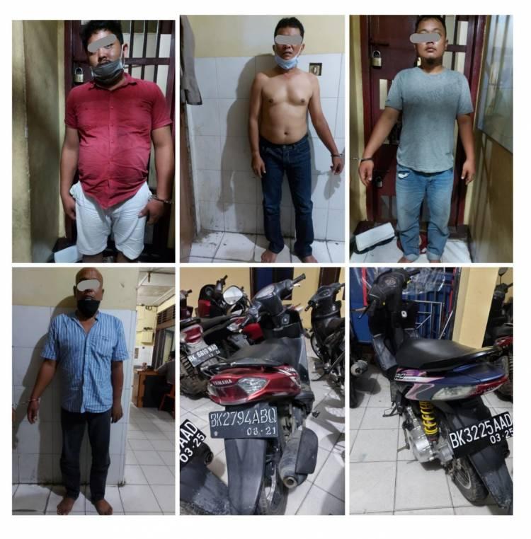 5 Pelaku Curanmor Diringkus Polsek Tanjung Morawa