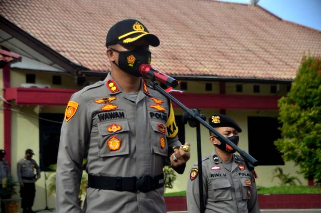 Kapolres Nias AKBP Wawan Iriawan Pimpin Korps Raport Kenaikan Pangkat Personil
