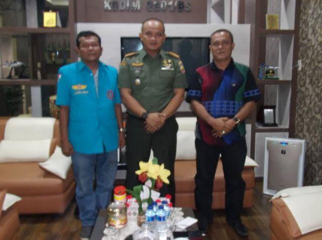 Dandim 0201 BS Terima Silaturrahmi DPC FSPTI Medan