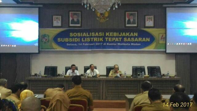 Sekda Kota Medan Pimpin Rapat Sosialisasi Kebijakan Subsidi Listrik Tepat Sasaran
