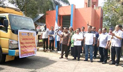 Bupati Tapteng Launching Penyaluran Perdana Bansos Rastra Untuk 23.367 KK Warga Tapteng