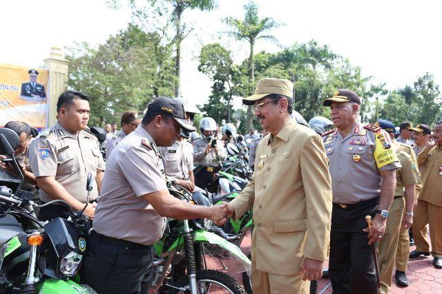 Polres Simalungun Antusias Terima Hibah 20 Sepeda Motor dari Gubernur