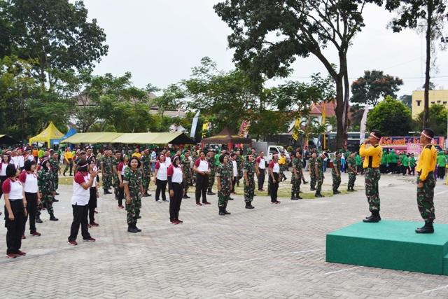 Jalin Kekompakan, Personil TNI-Polri di Pematang Siantar Olahraga Bersama