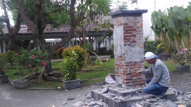 Patung Ikon RSUD dr Pirngadi Dibongkar Ulang