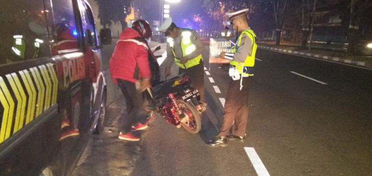 Polsek Sunggal Gelar Razia di Jalanan, Enam Sepeda Motor Terjaring