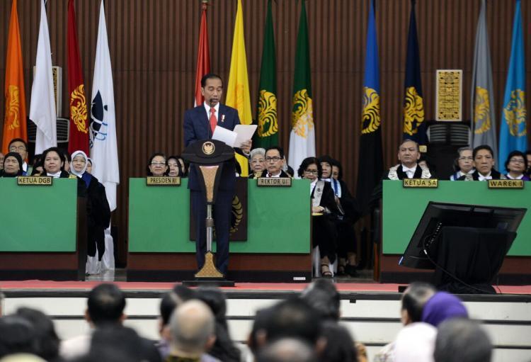 Presiden Harap UI Jadi Penopang Ekosistem Nasional Dalam Hadapi Era Persaingan