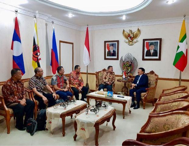 Dubes RI-Myanmar Terima Kunjungan Kapuskes TNI di Yangon, Myanmar