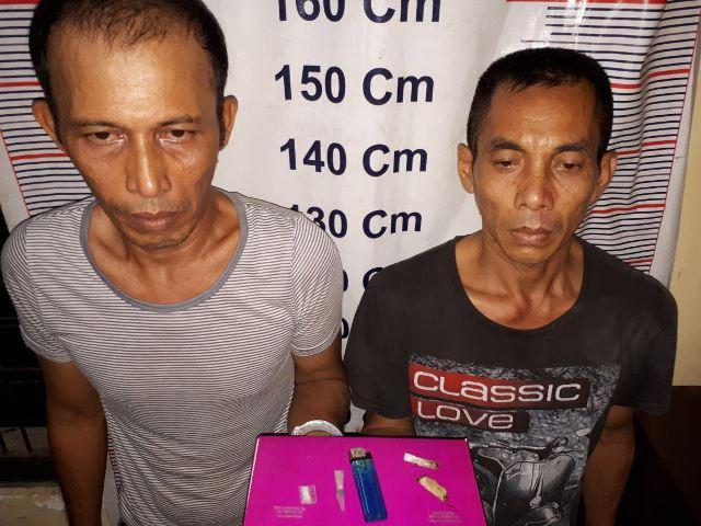 Transaksi Narkoba, Dua Warga Langkat Diamankan Polsek Tanjung Pura