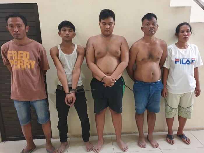 Lima Pengedar Narkoba Digrebek Polisi di Jalan Cemara