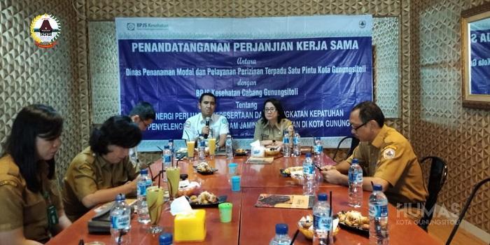 DPMPPTSP Kota Gunungsitoli Lakukan Kerja Sama dengan BPJS Kesehatan Cabang Gunungsitoli