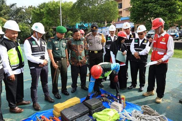 Wujudkan Kemandirian Masyarakat Berbudaya K3, PT PLN UP3 Rantauprapat Laksanakan Apel Bulan K3
