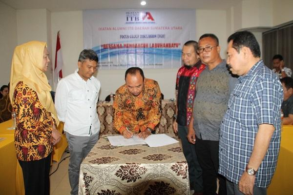 Dukung Program Pemerintah, Ikatan Alumni ITB Sumut Gelar FGD dengan Pemkab Labuhanbatu