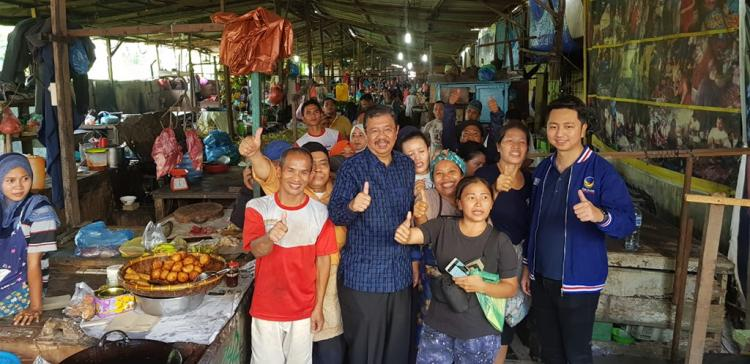 Tengku Erry dan Tengku Ryan Silaturahmi dengan Masyarakat di Pasar Akik dan Garuda