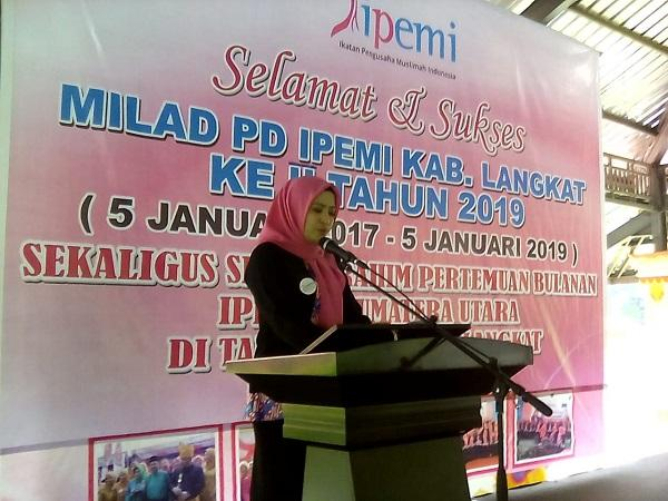 PD Ikatan Pengusaha Muslimah Indonesia Langkat Gelar Milad ke-II