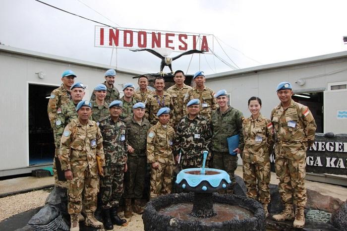 Satgas Indobatt XXIII-M Terima Tim Wasrik Sektor Timur UNIFIL