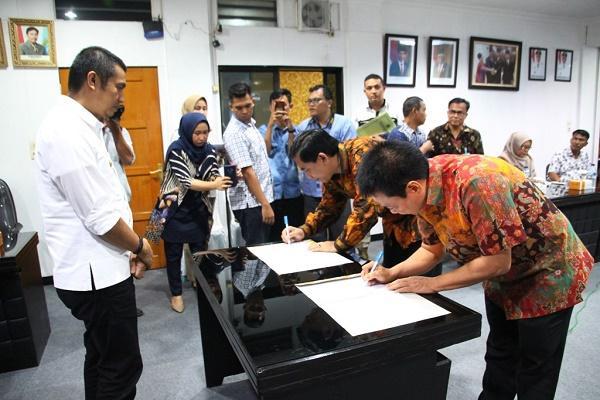 PDAM Tirtauli Pematangsiantar Jalin Kerjasama dengan Perumda Tugu Tirta Malang