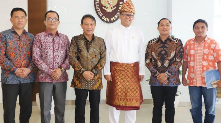 Perlu Dukungan Pemerintah Pusat, Pemkab Nias Utara Beraudensi dengan Menteri Kelautan dan Perikanan RI
